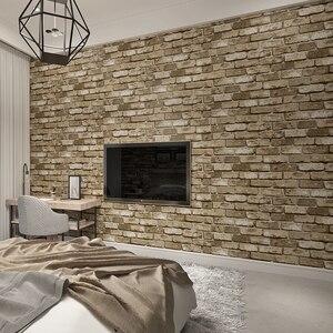 Image 3 - Nowoczesne klasyczne cegły teksturowane tapety na ścianach Decor tłoczone 3D rolki tapety do sypialni sofa do salonu TV tle
