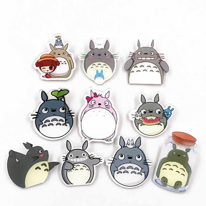 1 Pcs Baru Wanita Pink Totoro Hewan Pin Akrilik Kualitas Tinggi Bros Tahan Lama Anime Lencana untuk Anak-anak Hadiah Ulang Tahun