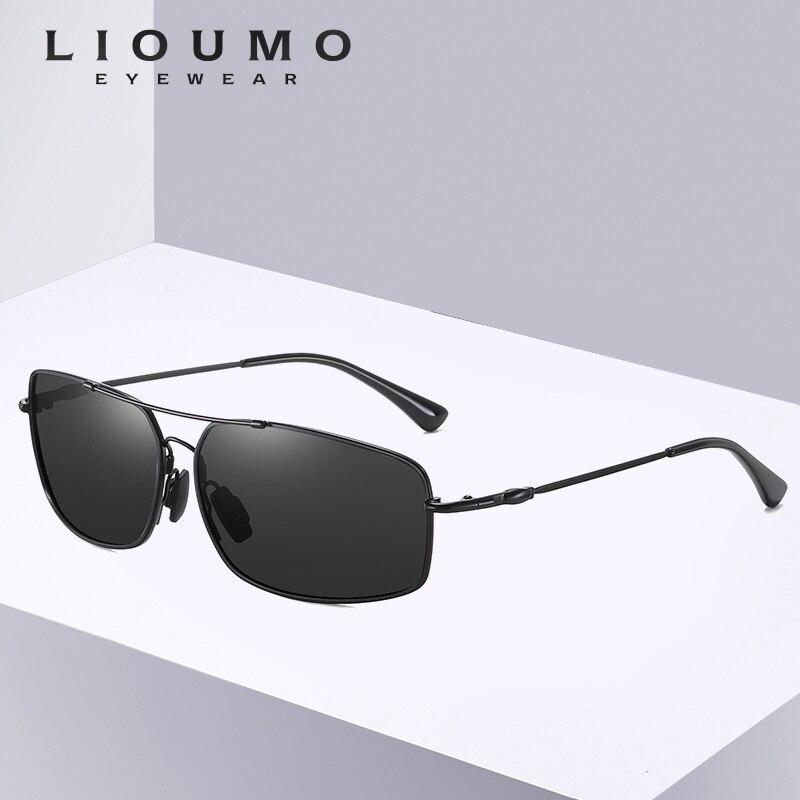 2020 HD Classic Square Sunglasses Men Polarized Driving Sun Glasses For Women Memory Metal Frame Mirror Lens Gafas De Sol Mujer