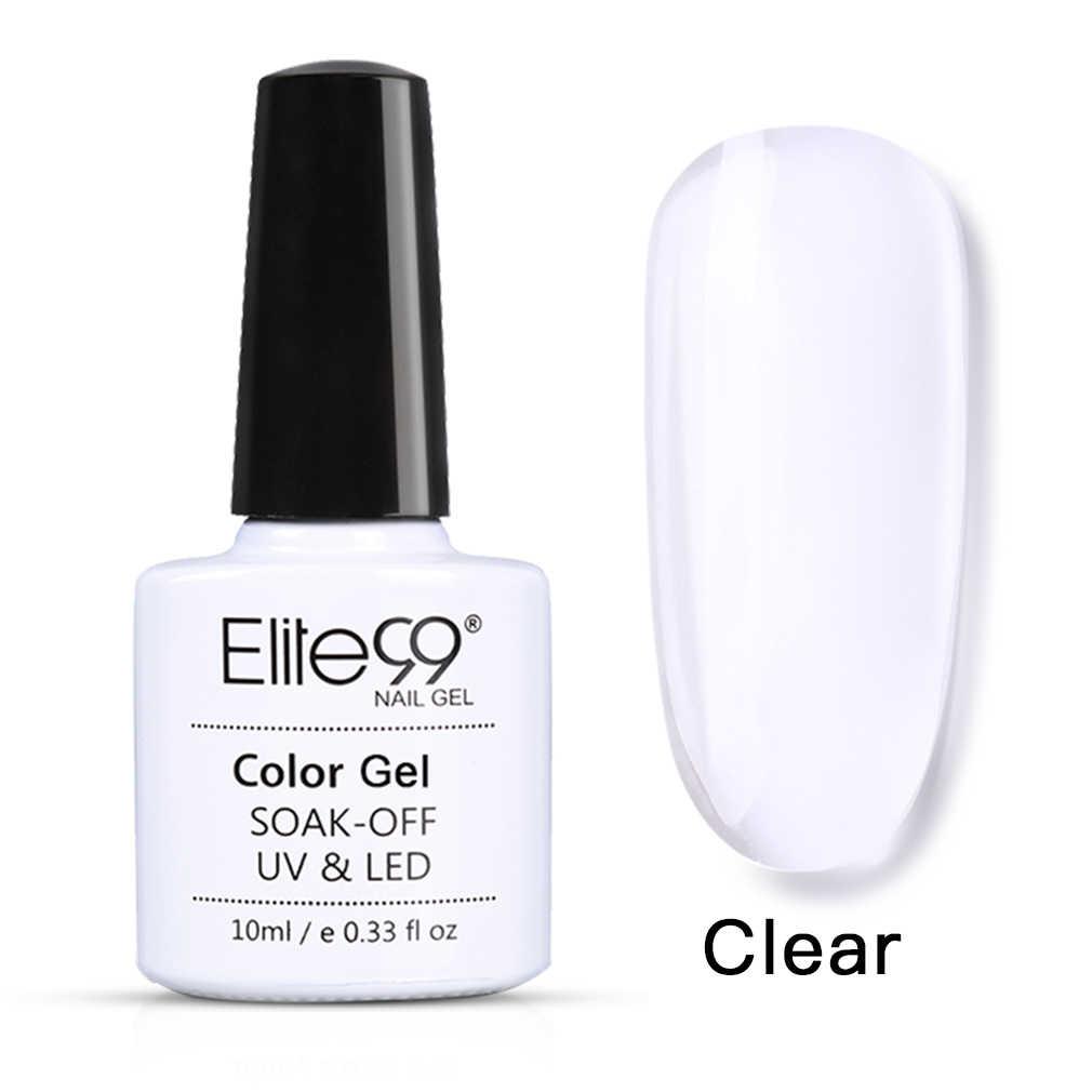 Elite99 10ml Nail Extension Gel Varnish Quick Building Gel Polish Soak Off Clear Pink Nail Tips Builder UV Gel Varnish Nail Art