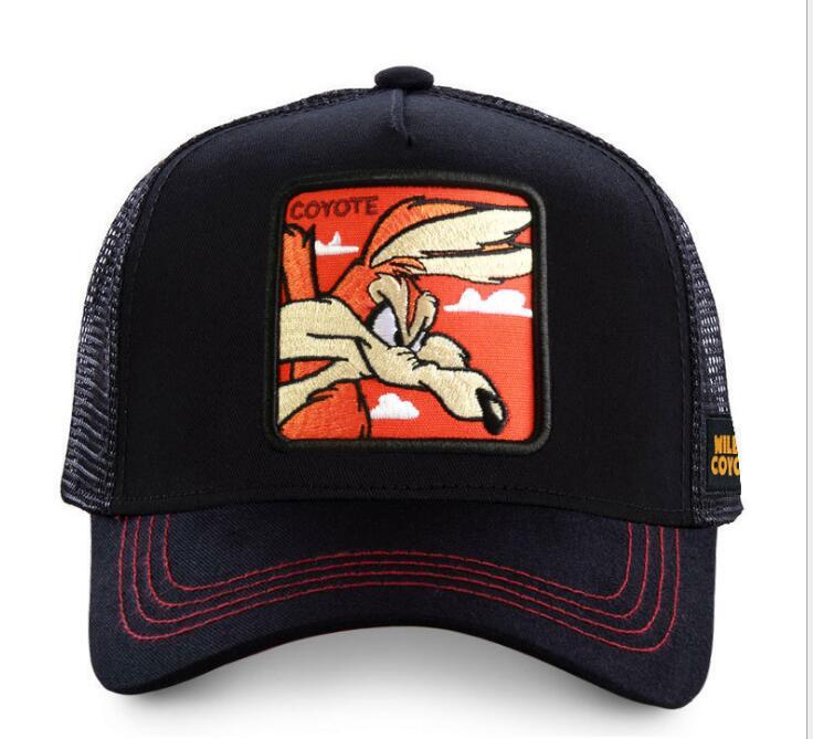 New Brand Anime COYOTE Snapback Cap Cotton Baseball Cap Men Women Hip Hop Dad Mesh Hat Trucker Cap Racing HAT