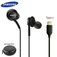 Écouteurs samsung type c dans loreille avec fil micro EO IG955 AKG casque pour smartphone Galaxy samsung S20 note10/note10 + huawei