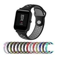 Silicone Strap Watch Band For Huami Amazfit Bip Watch Wrist Band 20mm For Xiaomi mijia quartz Garmin Forerunner 645 Vivoactive 3