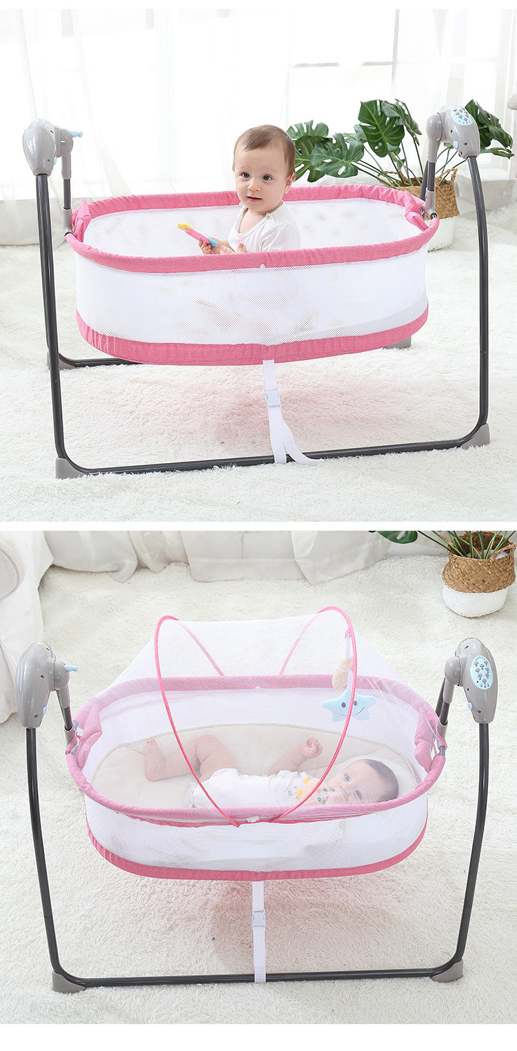 H990d35658a734d00a6aed52e36251d3aA Bluetooth Control Swing Baby Rocking Chair Electric Baby Cradle Remote Control Cradle Rocking Chair For Newborns Swing Chair