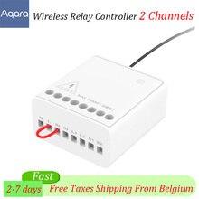 Original Aqara módulo de relé dos-Control de vía doble canales AC Motor controlador inalámbrico de casa inteligente para Xiaomi Mi casa