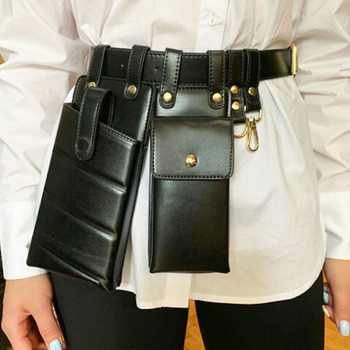 Women Waist Pack Leather Fanny Luxury Belt Bag Crossbody Bags For Casual Chest Female Purse