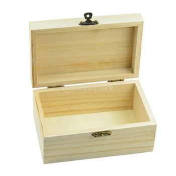 DIY Wood Storage Box Wooden Home Organizer Handmade Gift Craft Box Jewelry Case european royal retro wood jewelry organizer handmade flower pattern printing jewelry storage box treasure case with lock jewelry
