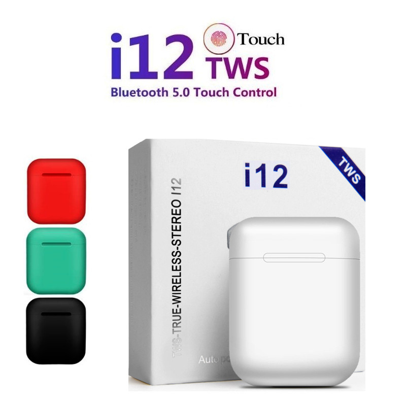 Original I12 TWS Bluetooth 5.0 Earphone Sports Stereo Headphones Touch Portable Wireless Earbuds Not I10 I20 Tws I30 I60 Tws I80