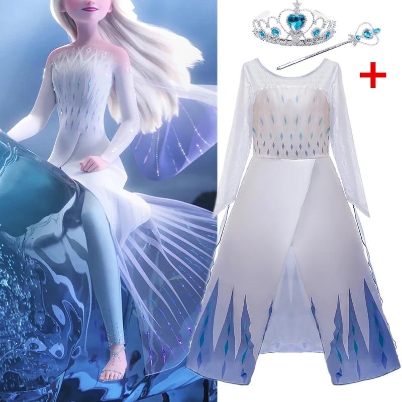 Fantaisie Elsa Robe Reine Des Neiges Robe Pour Filles Anniversaire Habiller Princesse Costumes Princesse Robe Halloween Cosplay Vetements Aliexpress