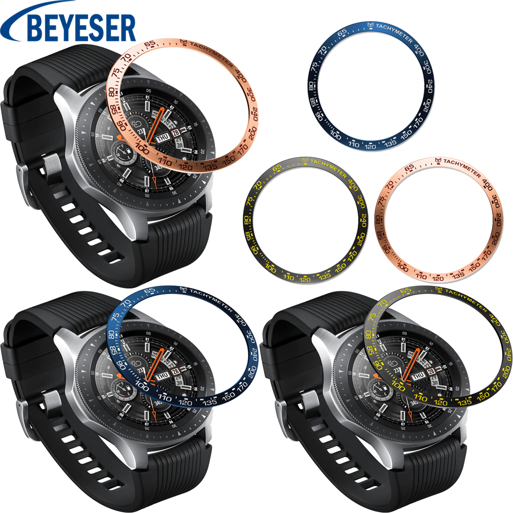 For Samsung Gear S3 Frontier Bezel Ring Cover Case for Galaxy Watch 46mm Bezel Ring Protection Smart Bracelet Cover Accessories