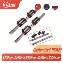 Block-Kit Linear-Guide-Rail HGH20CA HGR20 2400mm HGW HGW20CC 4pcs 2pcs 2350mm CNC