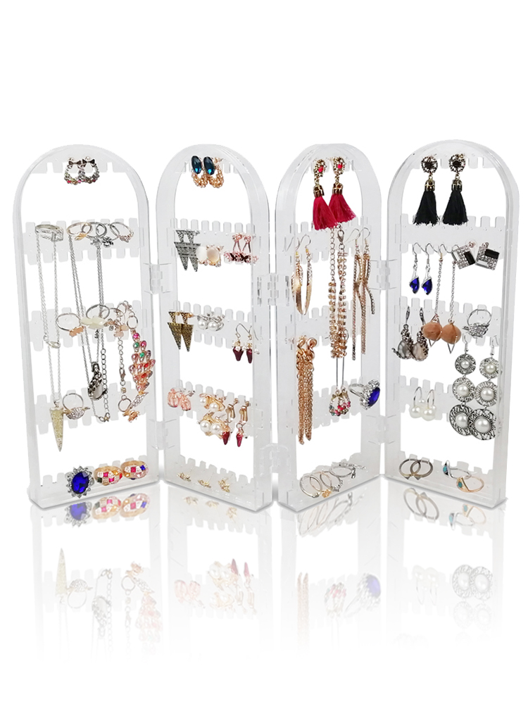 Display-Rack Stand-Holder Storage-Box Screen-Earring Studs Plastic Folding 240/360holes