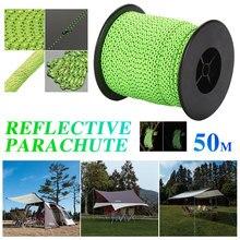 Шнур для кемпинга веревка для палатки открытый качели флуоресцентный зеленый нейлон и полиэстер парашют горы тяжелая нагрузка Исследуйте воду