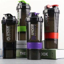 Creative Sports Protein Powder Shaker Plastic Stirring Three-layer Multi-function Fitness Shake Cup water bottle