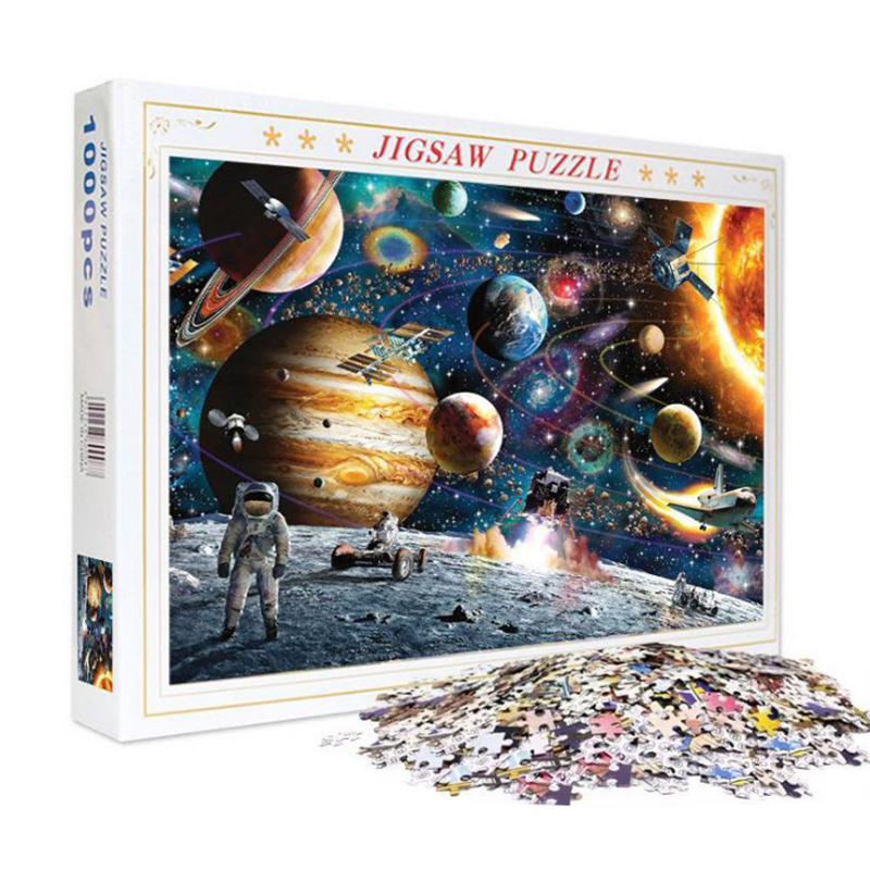 New Puzzle 1000 Pcs/Set Famous Painting Of World Space Adult Puzzles Kids DIY Jigsaw Puzzle Creativity Imagine Educational Toys