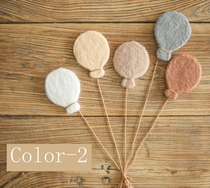 5 шт./компл. реквизит для фотосъемки новорожденных шерстяной войлочный шар ручной работы детский воздушный шар для фотосъемки для фотостуди...
