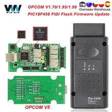 OPCOM V5 Cho Opel OP COM 1.70 Flash Cập Nhật Firmware OP COM 1.95 PIC18F458 FTDI Có Thể BUS OBD OBD2 Máy Quét Xe Ô Tô chẩn Đoán Tự Động Dụng Cụ