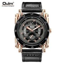 Индивидуальные мужские часы с календарем oulm модные кварцевые