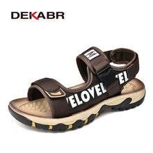 Мужские Нескользящие сандалии DEKABR, черная классическая удобная мягкая пляжная обувь для улицы, для прогулок, лето 2019