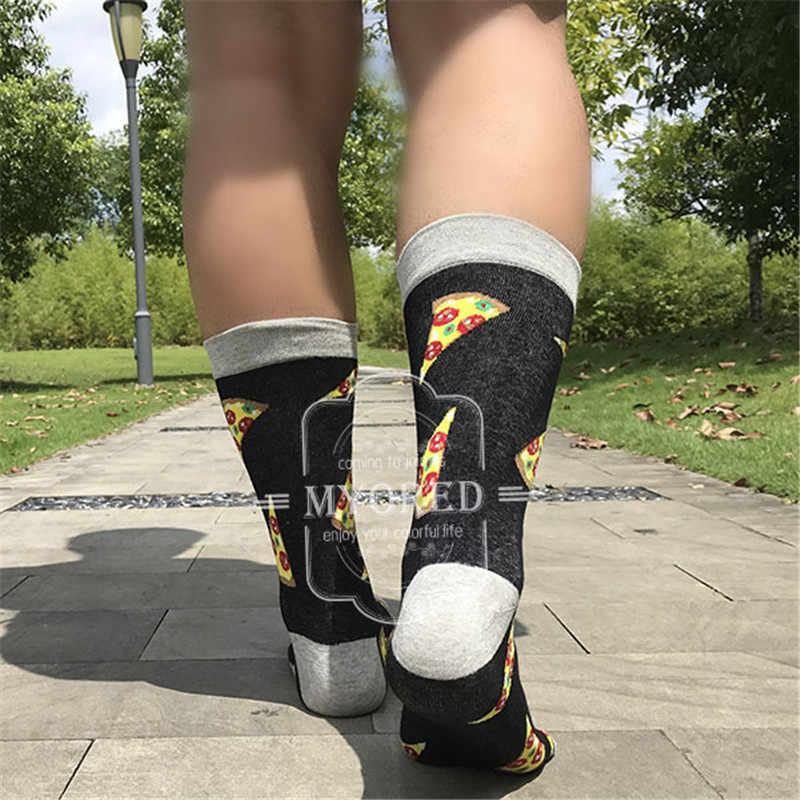MYORED 2019 วันที่ผู้ชายชุดสบายคู่ Roller สเก็ตบอร์ดสำหรับ causal เหตุผลตลกงานแต่งงานถุงเท้าถุงเท้า SHARK เรขาคณิต