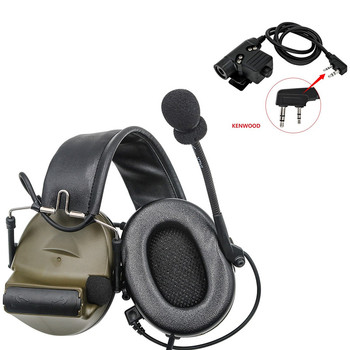 Tactical Electronic Shooting Headset COMTAC II Noise Reduction Pickup Walkie-Talkie Tactical Headset +Tactical PTT U94 PTT  FG tactical comtac ii anti noise sound amplification electronic noise reduction shooting headphones and tactical ptt u94 ptt de