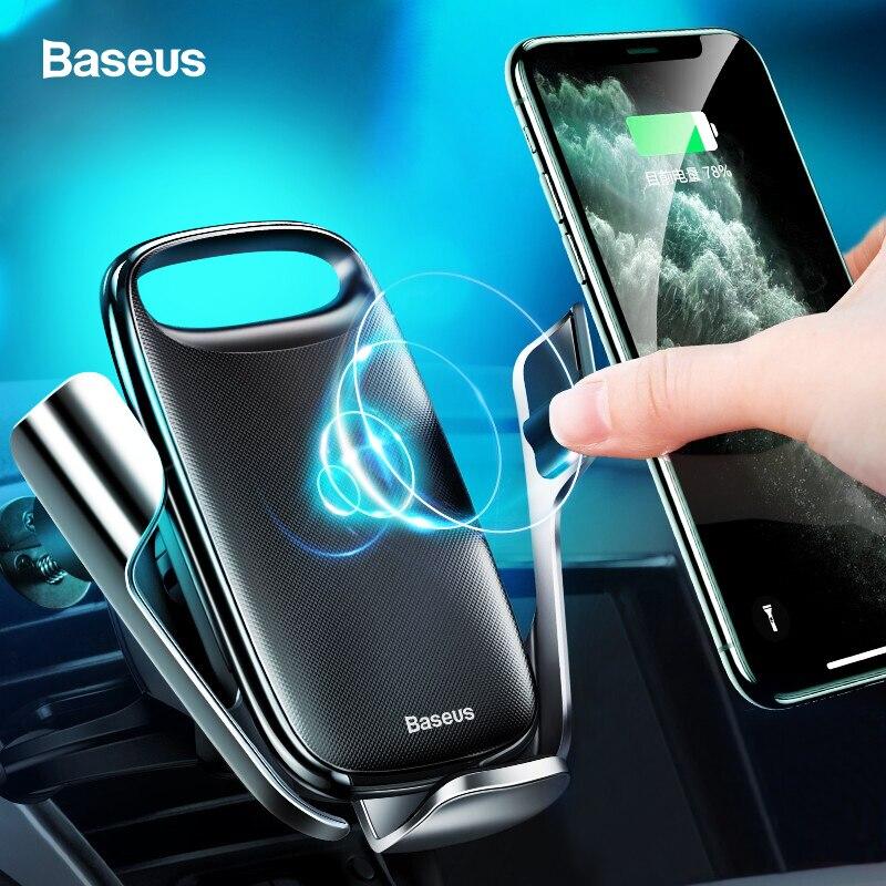 Baseus 15W Qi Sans Fil Chargeur De Voiture Pour iPhone 11 Voiture Rapide Sans Fil De Charge support pour samsung S9 Xiao mi mi 9 Chargeur À Induction