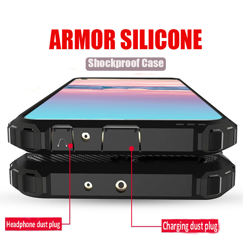 Luxury Armor Shockproof Phone Cases For Huawei Honor 20 Pro 8X 10 Lite Full Cover For Honor 10i 7c 7a P Smart 2019 Silicone Case image