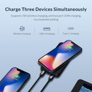 Image 3 - ORICO Batería Externa de 8000mAh para móvil, Banco de energía inalámbrico para iphone X, XS, XR, USB tipo C, carga inalámbrica para teléfono inteligente Samsung