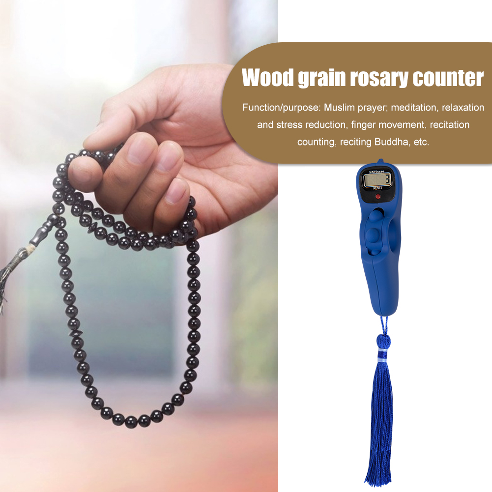 2038P Manual Reset Decompression Relaxation Tool Digital Electronic Rosary Counter Tassel Decompression Relaxation Tool