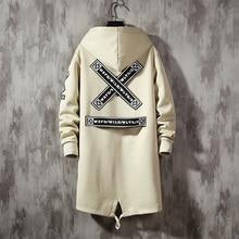 Fleece Jacket2020 Spring Parkas Men Print Japanese Hooded Lo