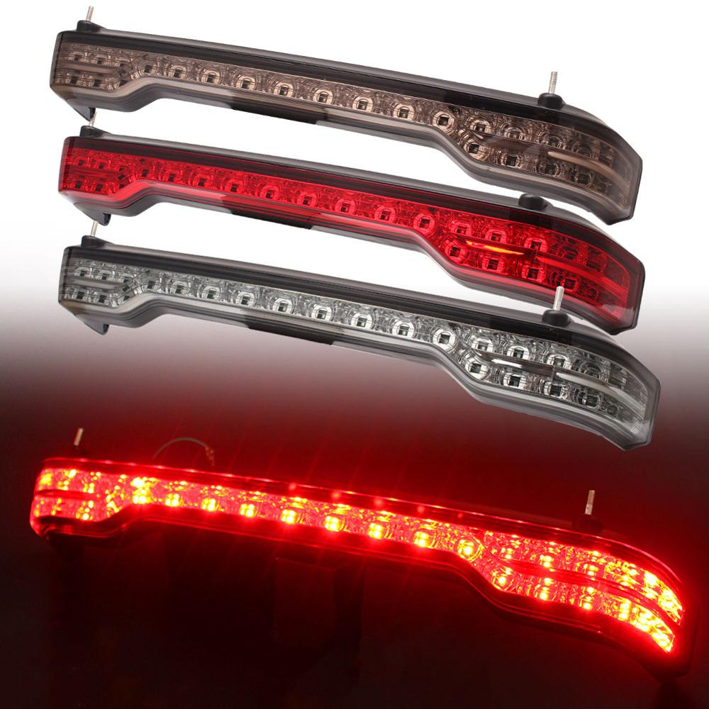 Motorcycle Rear Tour-Pak King Tour Pack LED Brake Turn Tail Lamp Light Kit For Harley Touring Electra Glide Ultra Classic 14-19