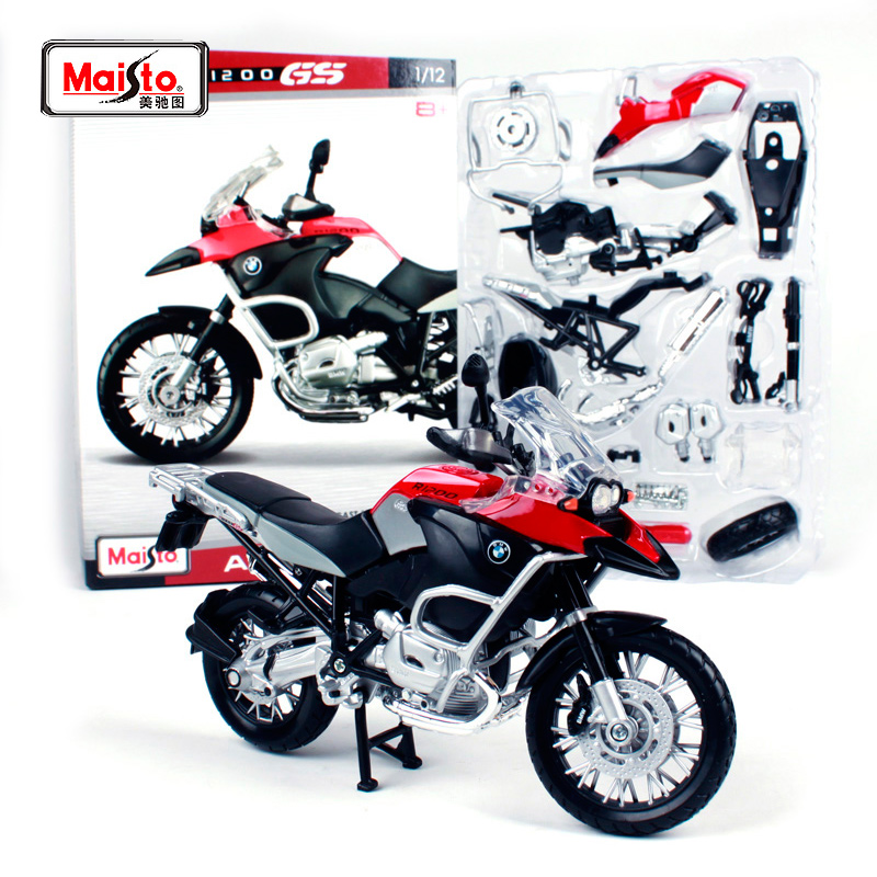 Maisto 1:12 BMW R 1200 GS Assembly DIY <font><b>MOTORCYCLE</b></font> BIKE <font><b>Model</b></font> Kit FREE SHIPPING NEW ARRIVAL 39194 image