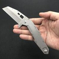 Sobrevivência ao ar livre faca dobrável d2 lâmina alça de aço bolso facas caça acampamento edc ferramentas multi função pequena faca