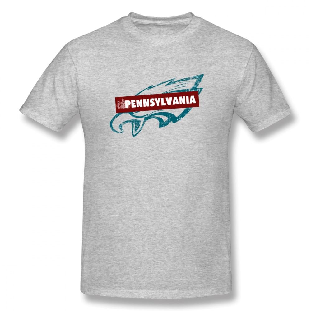 100 cotton Pennsylvania American Football Team print casual mens o neck t shirts fashion Men 39 s Basic Short Sleeve T Shirt in T Shirts from Men 39 s Clothing