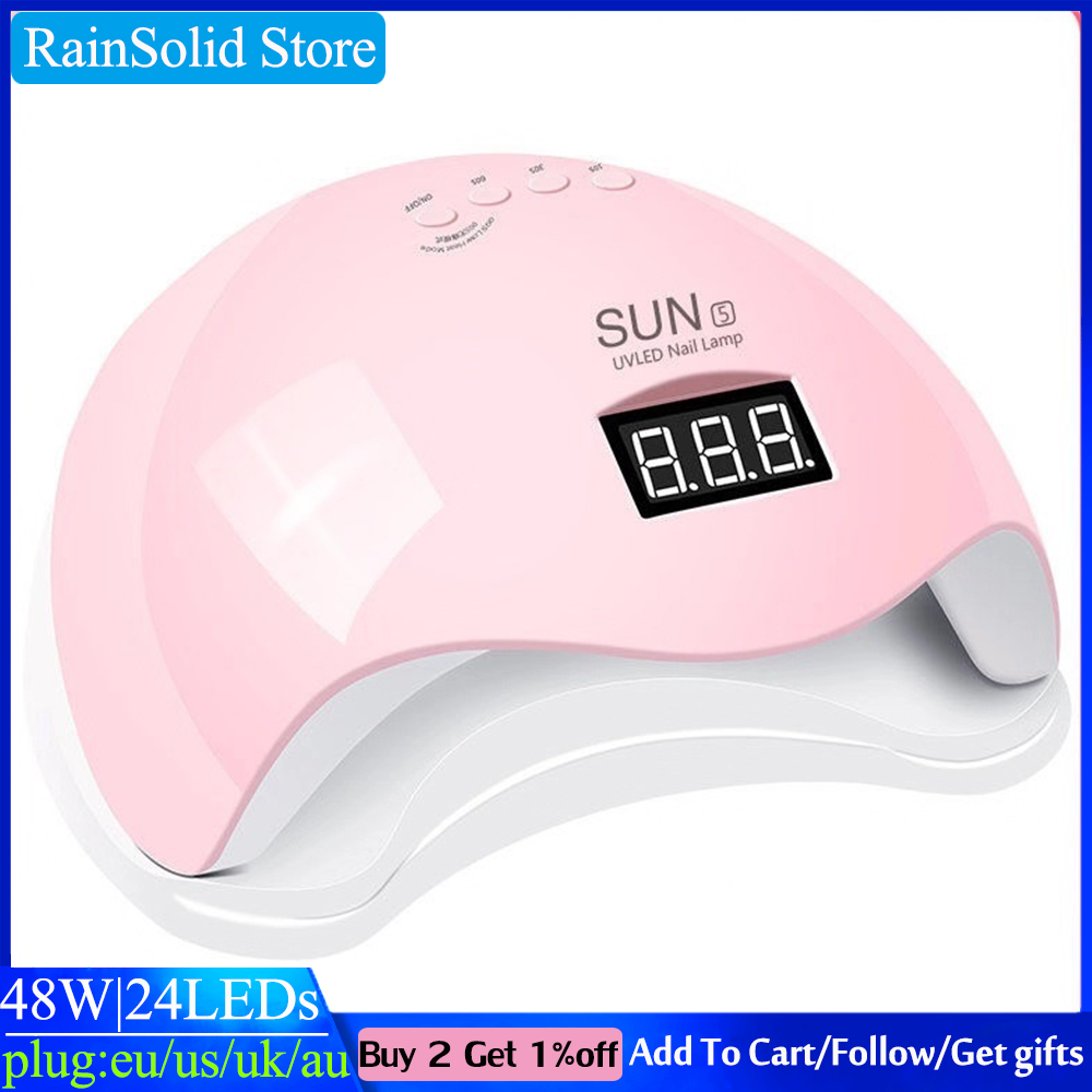 SUN5 48W UV LED nail lamp is suitable for all gel 24 beads automatic sensing LED display nail dryer