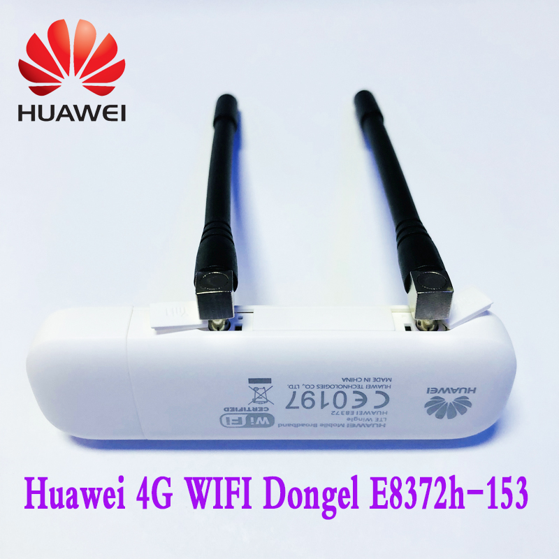 HUAWEI   E8372 4G USB WIFI Dongle  4G Car WIFI E8372h-153 Plus Antenna   Unlocked FDD800/900/1800/2100/2600MHZ  Free Shipping