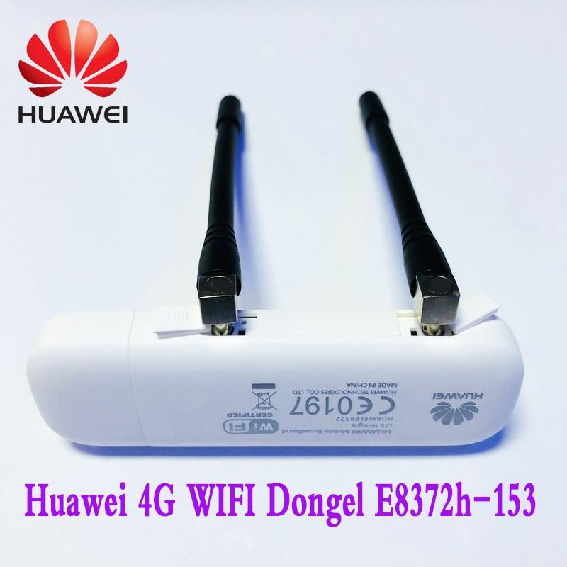 HUAWEI   E8372 4G USB WIFI Dongle  4G Car WIFI E8372h-153 Plus Antenna   Unlocked FDD800/900/1800/2100/2600MHZ  Free Shipping