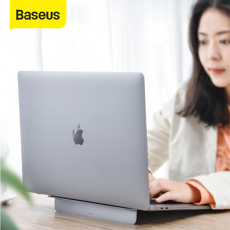 Baseus Laptop Stand Foldable Aluminum Laptop Holder Portable Adjustable Ergonomic Stand For MacBook Pro Air NoteBook 12-17 inch(China)