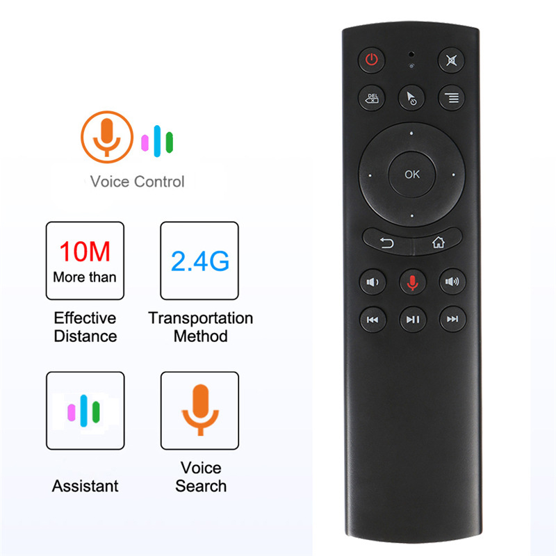 G20 Voice Air Mouse 2.4GHz Wireless Microphone Remote Control IR Learning 6-axis Gyroscope for PC Android Smart TV Box PC