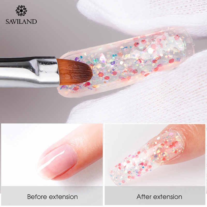 Saviland 15G Kleur Polygel Vinger Extension Glitter Poly Gel Nail Gel Kleuren Diamond Uv Building Gel Polish Snelle Builder gel