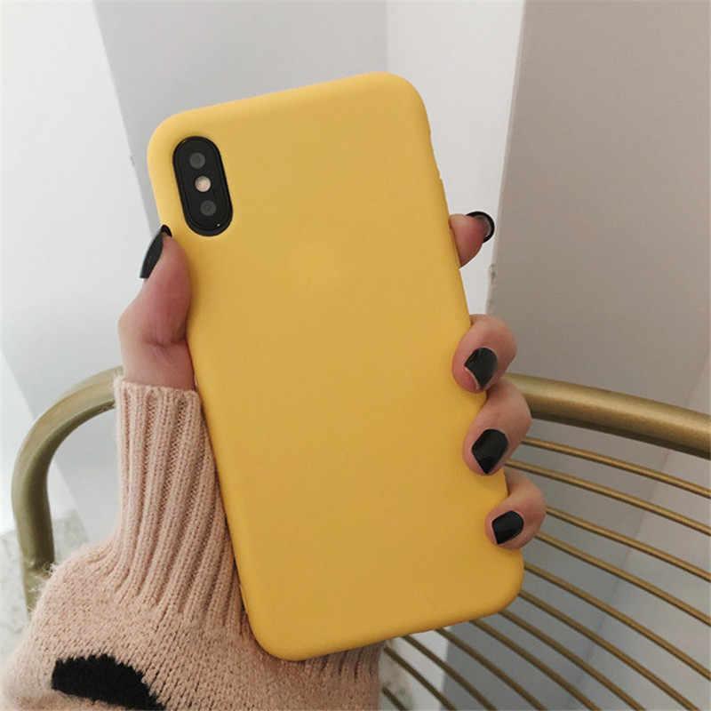 Slanke Effen Kleur Voor Iphone 11 Pro Case Paar Terug Zachte Siliconen Telefoon Cover Voor Iphone 11 Pro Xs Max Xr X 7 8 6 6 S Plus Cover