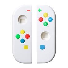 닌텐도 스위치 용 보호 케이스 및 버튼 왼쪽 오른쪽 컨트롤러 NS NX 콘솔 교체 다채로운 엄지 그립 버튼 커버