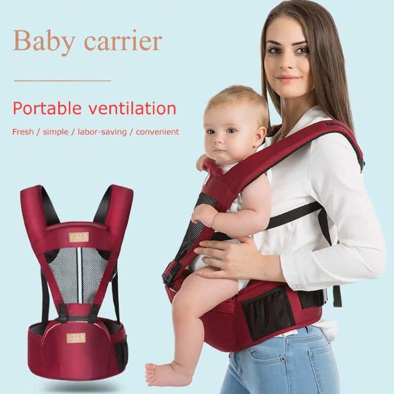 Summer Breathable Baby Kangaroo Carrier Newborn Toddlers Sling Hipseat Stool Close Knitting And Careful Workmanship