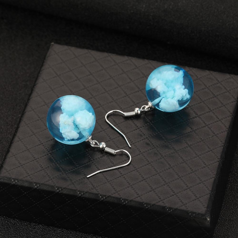 2019 Lady Temperament Jewelry Blue Sky  White Cloud Eagle Drop  Earrings Water Drop Shaped Women Pothook Earrings Bohemia