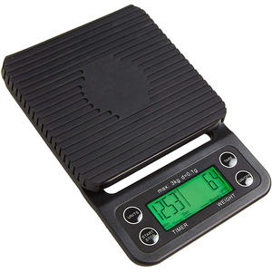 Digital-Scale Timer Coffee Kitchen Tare-Function with High-Accuracy Precision-Sensor