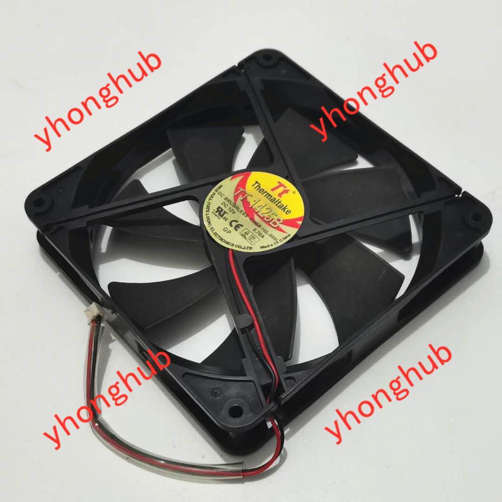TT TT-1425B DC 12V 0.70A 130X130X25mm 2-wire Server Cooling Fan