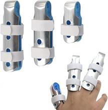 3pcs Finger Brace Support Posture Corrector Aluminium Hand Splint Recovery Injury Pain Bending Deformation Correction