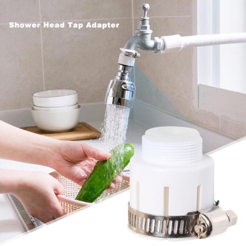 Rotatable Swivel Faucet Nozzle Shower Head Water Filter Adapter Water Purifier Multi-function Quick Kitchen Connector