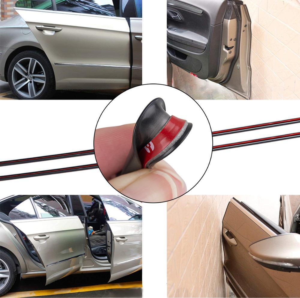 Edge Door Guard Trim Car Moulding Guards Auto Molding Protector 32ft Strip Black