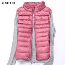 Plus Size Slim Down Jacket Vest Women Pockets Sleeveless Thi
